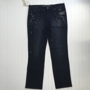 New Artistix by Poli Distressed Embellished Jeans